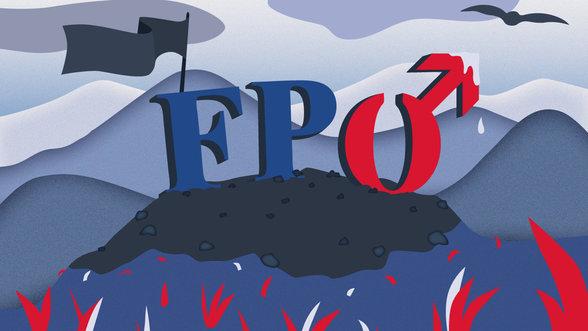 Illustration: FPÖ mit Gender-Symbol für Männer