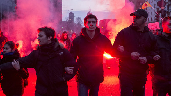 Anti Rechts Proteste in Mailand