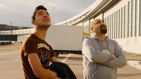 Szene aus dem Berlinale Film Zentralflughafen THF