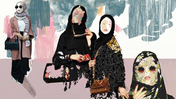 Kopftuch tragende muslimische Frauen