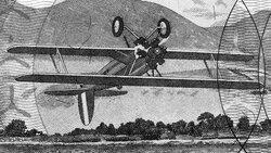 Umgekehrt fliegender Doppeldecker