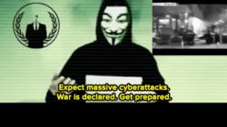 Still aus einem YouTube-Clip von Anonymous