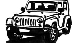 Illustration von einem Geländewagen