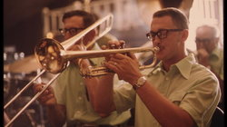 Trompeter einer Polka-Band im Gibbon Ballroom
