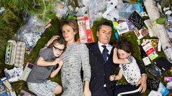 Eine ganz normale Familie und der Müll, den sie in einer Woche produziert