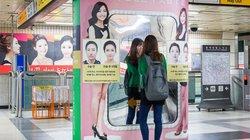 Vorher Nachher Bilder: Anzeigen für Schönheits-OPs in der U-Bahn von Seoul