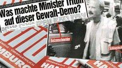 Jürgen Trittin –angeblich mit Schlagstock auf einer Demo