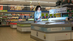 Orit Araf im Supermarkt
