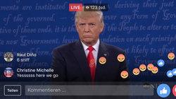 Emoticons im Livestream des TV-Duells zwischen Clinton und Trump