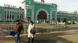 Der Bahnhof von Nowosibirsk.