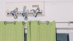 Klimaanlage mit Red Bull Dosen