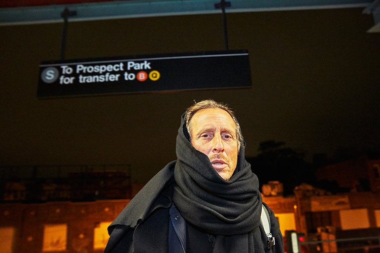 David an der Ubahn (Foto: Christiane Paul Krenkler)