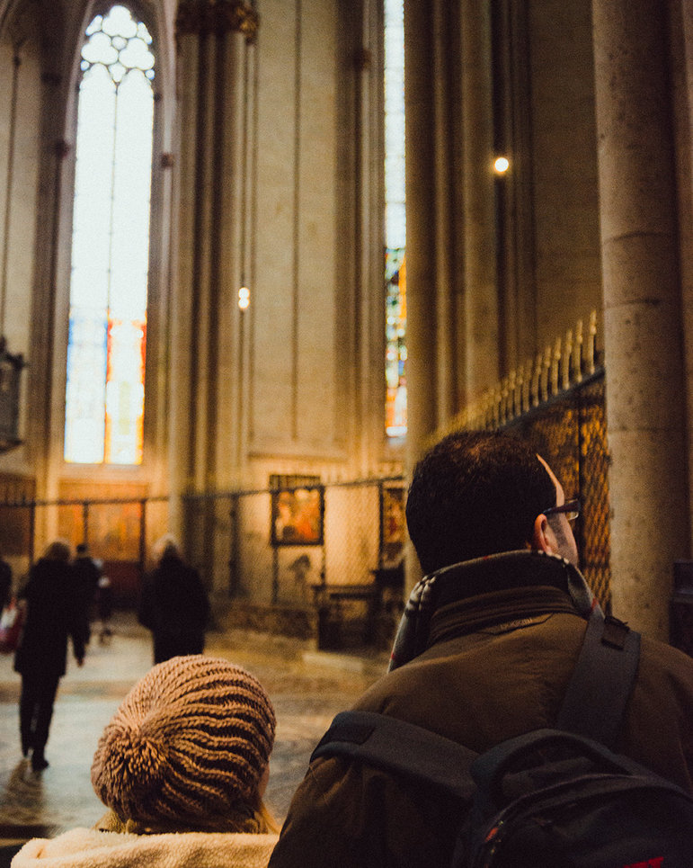 Aziz und Lama im Kölner Dom (Christian Protte)