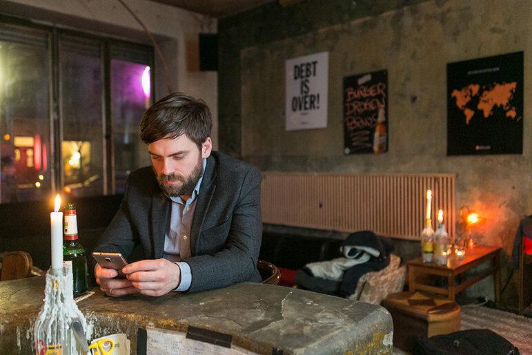 Levin Keller in der Burgerbar Room 77