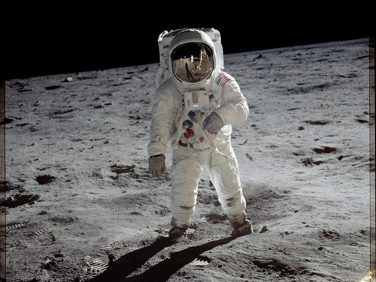 Astronaut Buzz Aldrin auf dem Mond (Foto: NASA / gemeinfrei)
