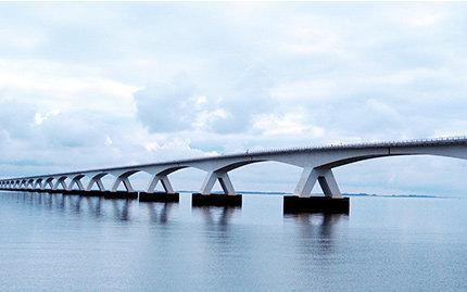 Zeeland-Brücke, längste Brücke der Niederlande (mellow-d)