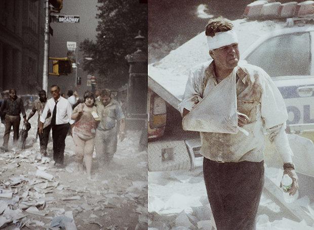 11. September 2001, Manhattan: Der Staub der Türme bedeckte ganze Straßenzüge (Foto: Bert Spangemacher)