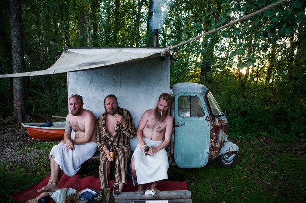 Haste mal ne´ Sauna: Diese Finnen finden immer einen Weg zu schwitzen  (Foto: Jussi Puikkonen)