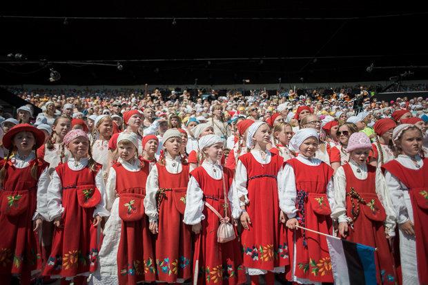 Früh übt sich: Mehr als 200 Schulchöre nehmen am Laulupidu teil (Fabian Weiß)