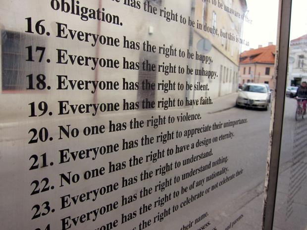 An alles gedacht: Die Verfassung sichert unter anderem das Recht auf Unglück (Foto: Alberto Garcia)