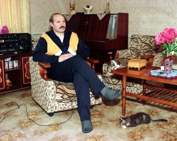 Offensichtlich ein Freund von Ideen der Vergangenheit: Weißrusslands Machthaber Alexander Lukaschenko (1996) (Foto: Wassili Fedosenko/Reuters/Corbis)