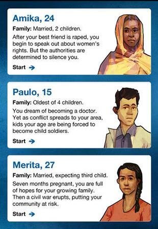 """My Life as a Refugee"" (Screenshot: UNHCR)"