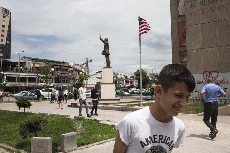 Bill Clintons Statue in Pristina