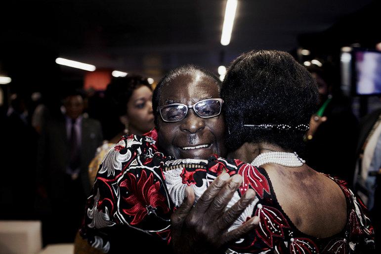Der Staatschef von Simbabwe, Robert Mugabe