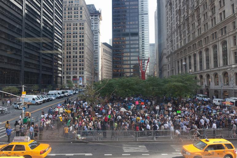 Occupy Ursprungslager im New Yorker Zuccottipark  (Foto: Jan-Christoph Hartung)