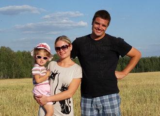 Deutscher Landwirt in Russland mit seiner Familie (Foto: privat)