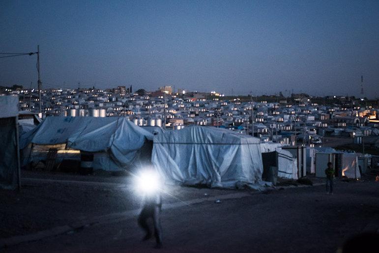 Flüchtlingslager in Scharja, Irak (Foto: Chris Grodotzki)