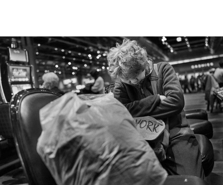 """Das Casino ist für die obdachlosen """"Bus-Kkun"""" ein Wohnungsersatz."""