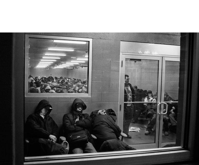 Das Warten auf den Bus zurück nach New York.