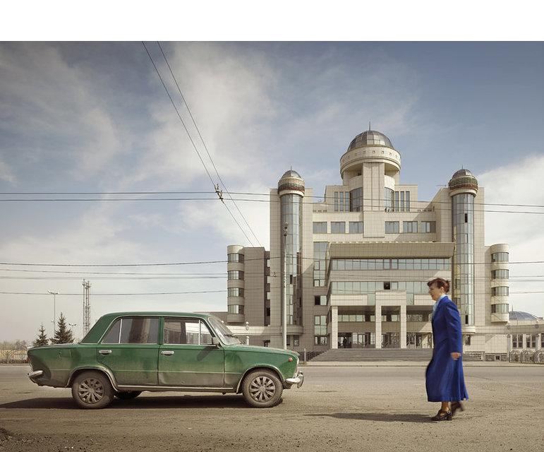 Das Hauptquartier der Verkehrspolizei in Kasan, der Hauptstadt der Republik Tatarstan