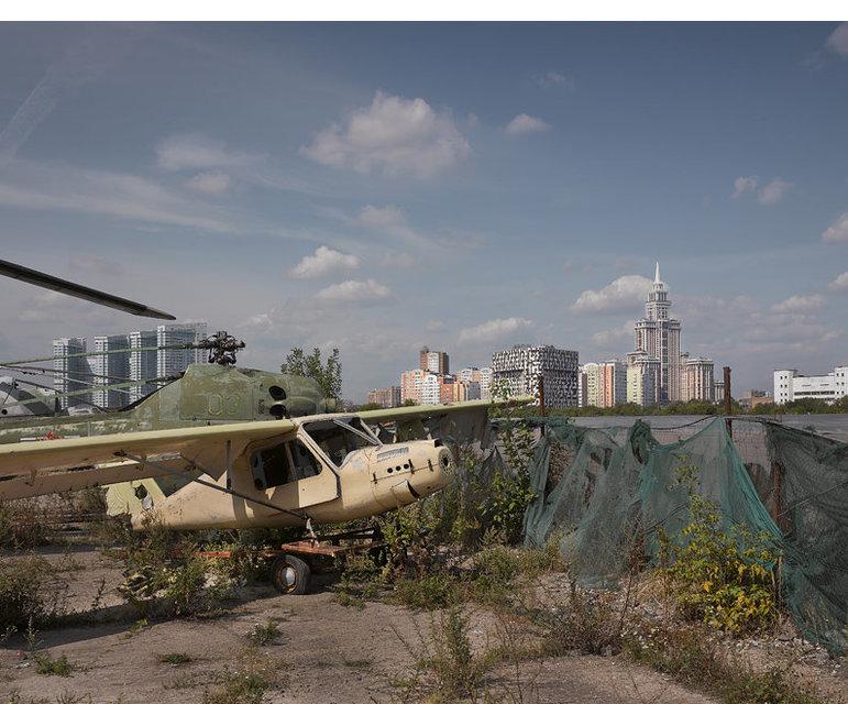 Der ehemalige Flughafen Chodinski Pole, Moskau