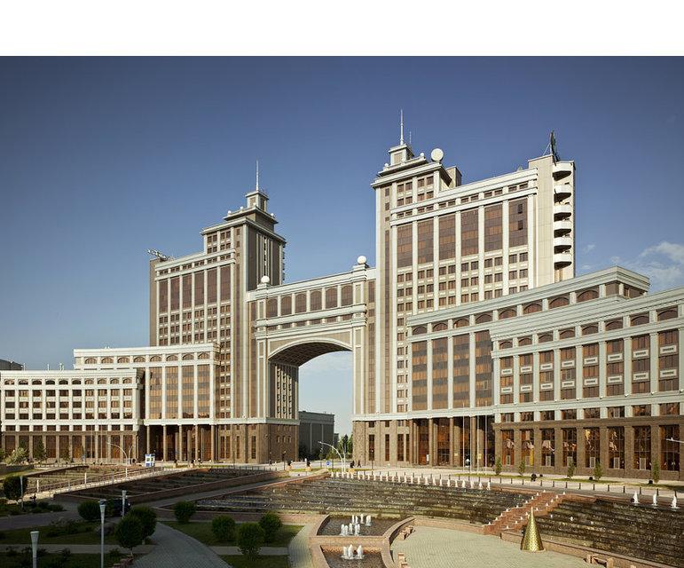 Das KazMunayGaz-Gebäude in Astana