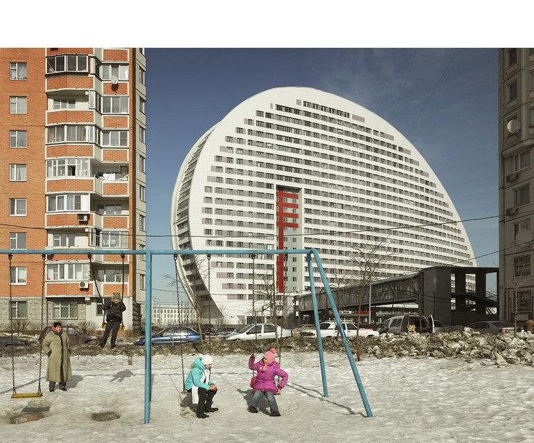 """Der Bürokomplex """"Parus"""" in Moskau"""