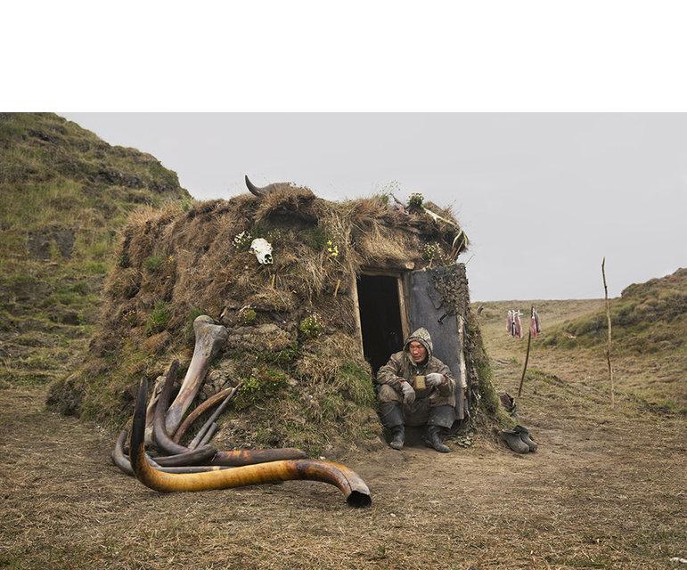 Gut getarnt- So kann die Hütte aus dem Helikopter der russischen Grenzschützer nicht so leicht gesehen werden