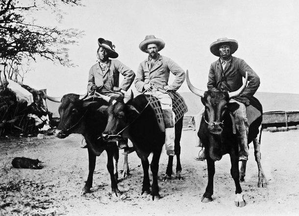 Deutsche Kolonialherren in Afrika