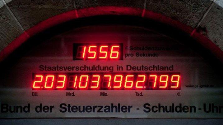 Nur eine Momentaufnahme: Die Zuwachs auf der Schuldenuhr des Bundes der Steuerzahler pro Sekunde: 165 Euro