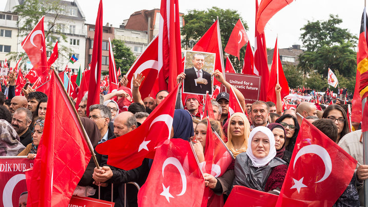 Erdogan Demo in Köln