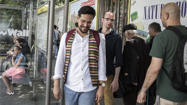 Armin Langer und Ozan Keskinkilic am Hermannplatz