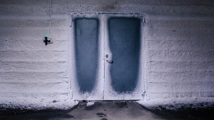 Tür zum Bunker