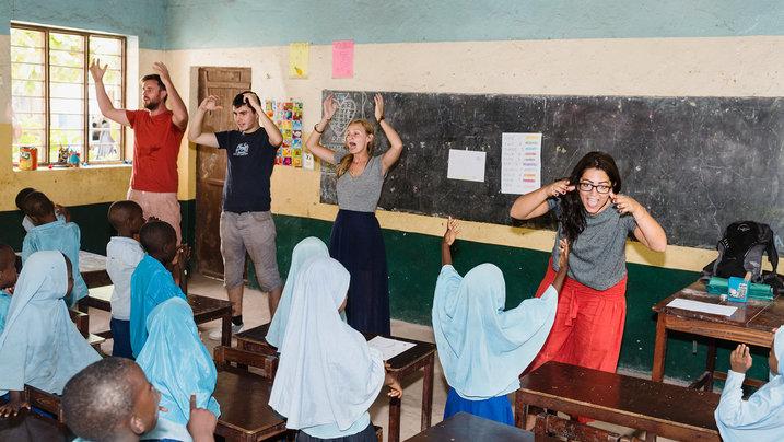 Volunteers in Zanzibar