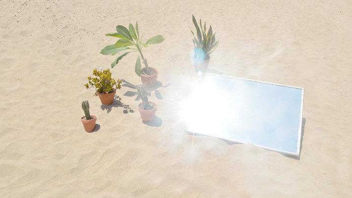 Spiegel, Sonne, Sand