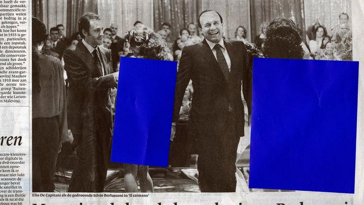 Zensiertes Zeitungsfoto; Foto: Jan-Dirk van der Burg