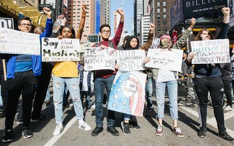 Anti Trump Protest in New York