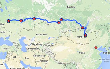 Bahnstrecke der Transsibirischen Eisenbahn