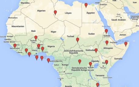 Google-Map Afrika
