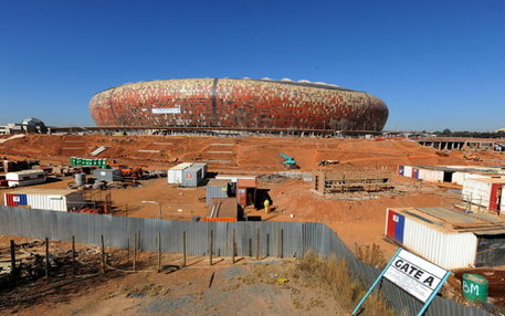Die FNB-Arena in Johannesburg. Der Umbau für die WM hat 312 Millionen Euro gekostet